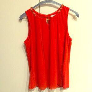 Orange Calvin Klein sleeveless top